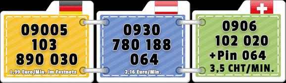 Unter diesen Nummern bekommst du direkt Kontakt zu einer geilen Trans